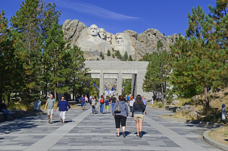 Zet de Nationale Herdenkings, Zwarte Heuvels van Rushmore, Zuid-Dakota, de V.S. op stock afbeelding