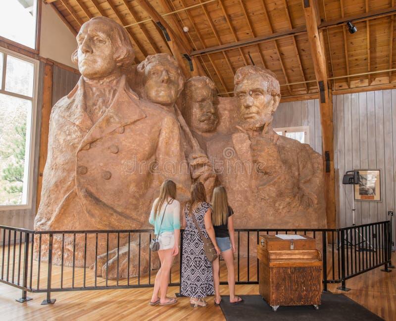 Zet de Nationale Herdenkingsgutzon Borglum Studio van Rushmore op stock foto