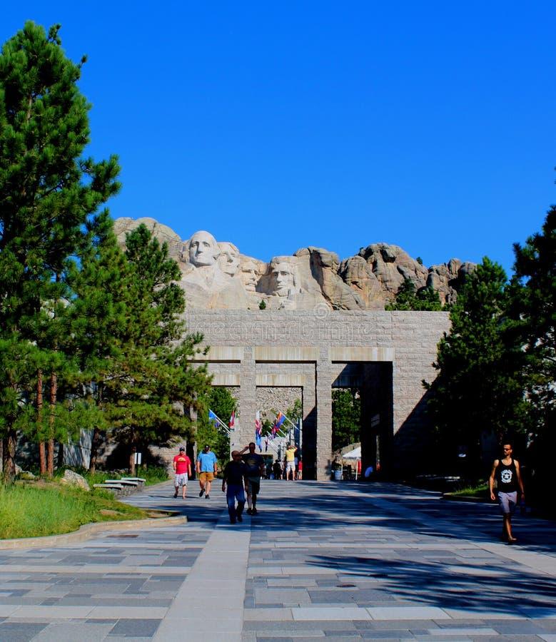 Zet de Nationale Herdenkingsrushmore Grote mening van Rushmore op royalty-vrije stock afbeelding