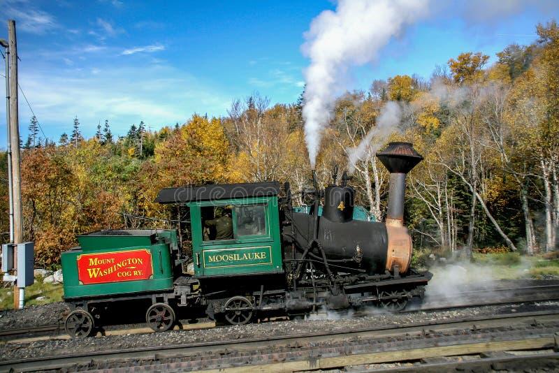 Zet de tandradbaan van Washington op locomotiv royalty-vrije stock afbeelding