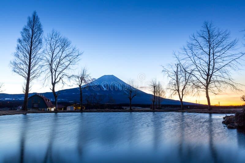 Zet de Zonsopgang van Fuji op Fujisan royalty-vrije stock afbeelding