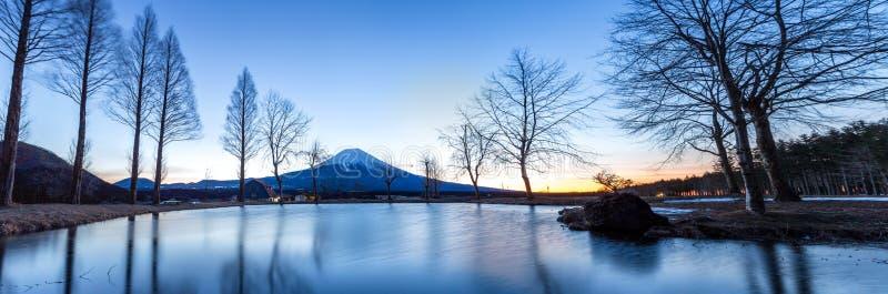Zet de Zonsopgang van Fuji op Fujisan royalty-vrije stock fotografie