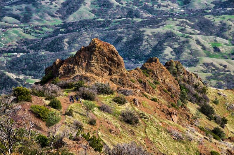 Zet Diablo-mening van groene vallei op royalty-vrije stock foto