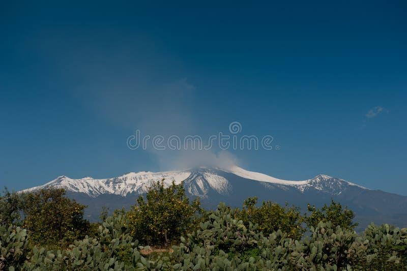 Zet Etna op stock fotografie