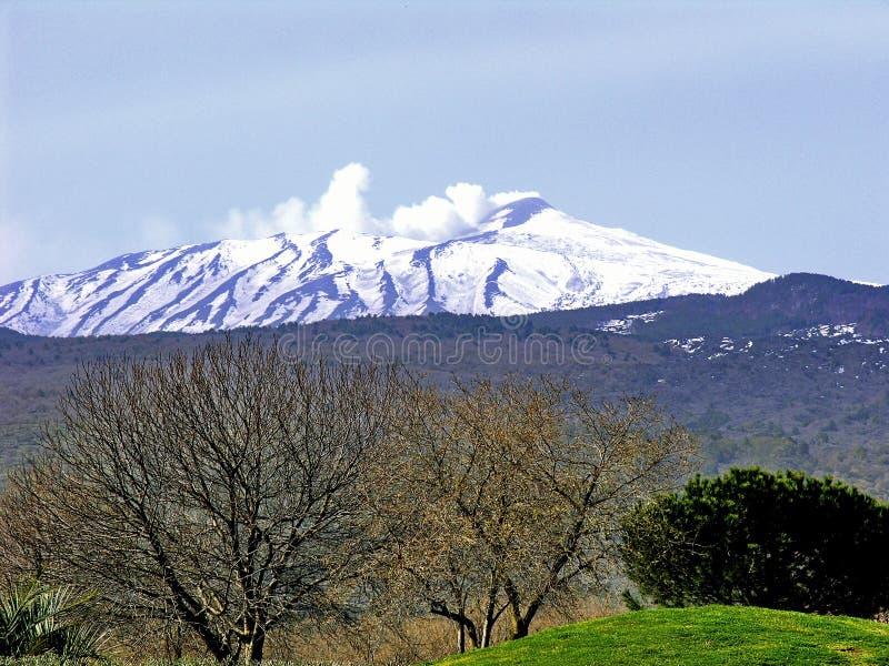 Zet Etna op - stock foto