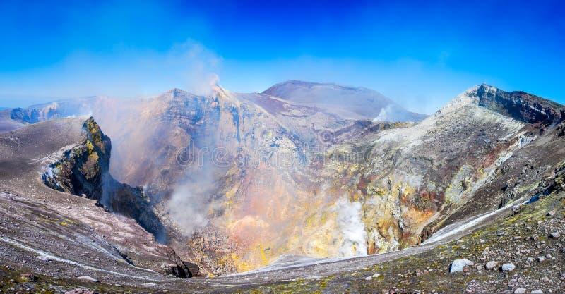 Zet Etna Sicily Italië op stock afbeeldingen