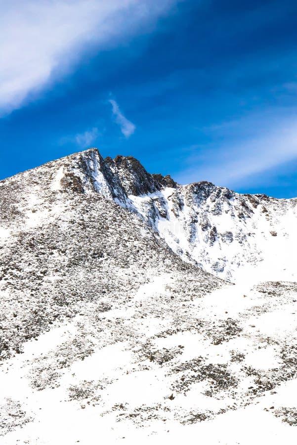 Zet Evans Summit - Colorado op royalty-vrije stock foto