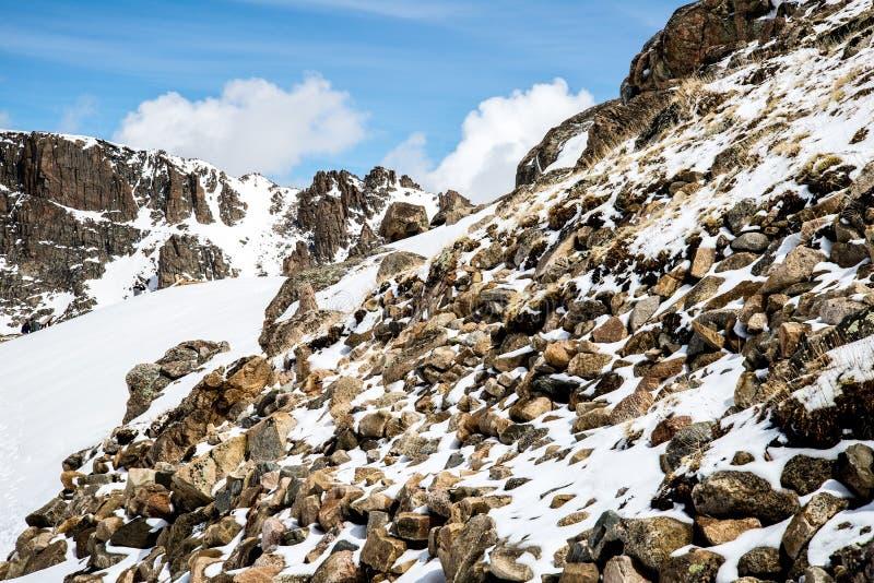 Zet Evans Summit - Colorado op royalty-vrije stock afbeeldingen