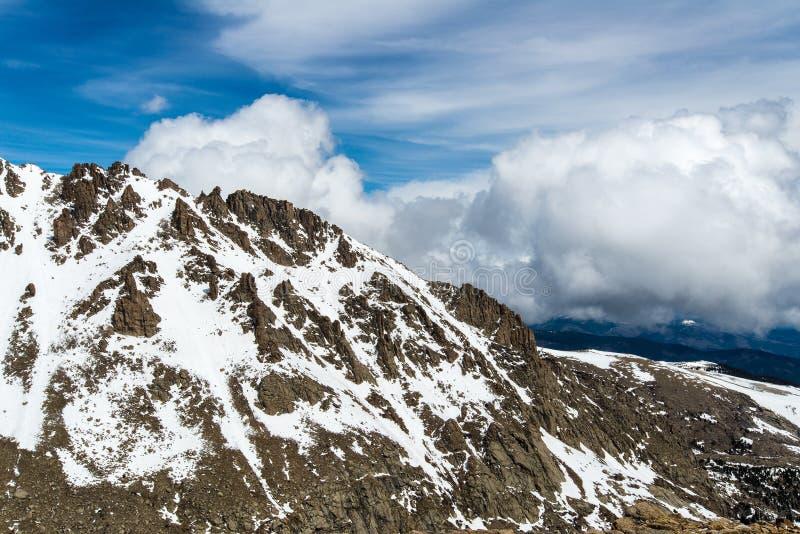 Zet Evans Summit - Colorado op royalty-vrije stock foto's