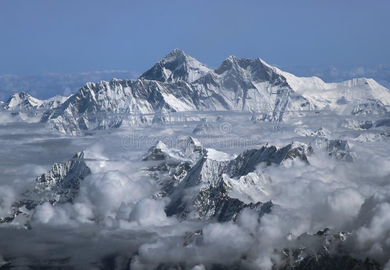 Zet Everest op royalty-vrije stock afbeeldingen