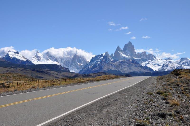 Zet Fitz Roy Patagonia, Argentinië op stock foto
