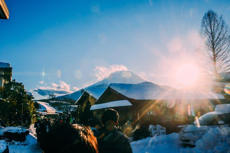 Zet Fuji Japan op stock fotografie
