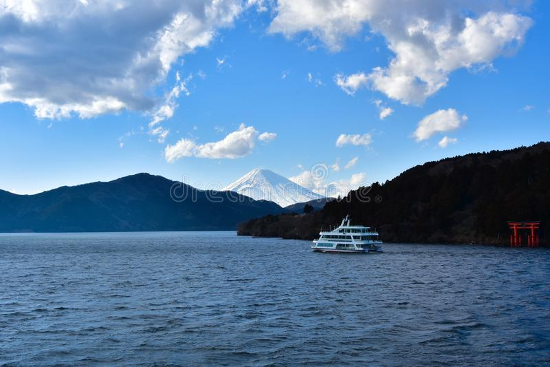 Zet Fuji, Japan op stock fotografie