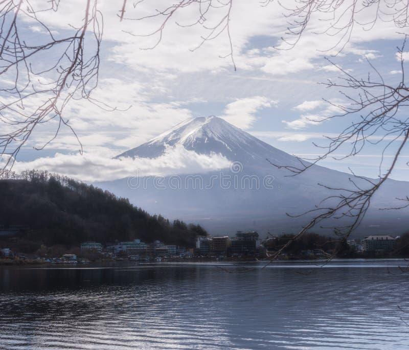 Zet Fuji vijf meren Japan op royalty-vrije stock afbeelding