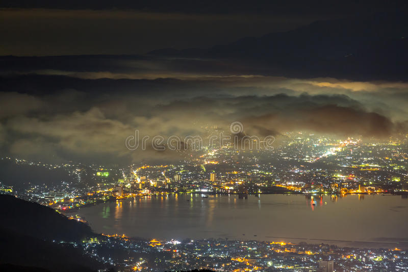 Zet Fuji-zonsopgang op royalty-vrije stock fotografie