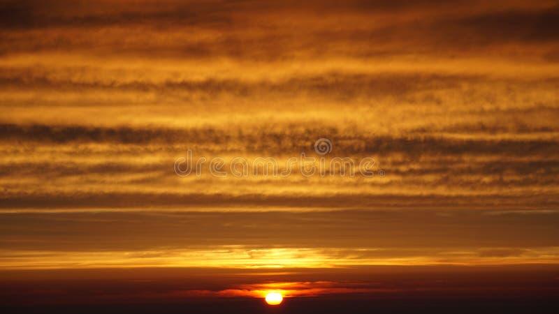 Zet Fuji-zonsopgang op stock afbeeldingen