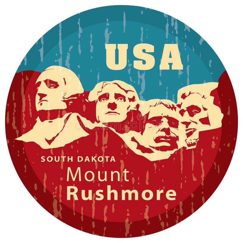 Zet Gedenkteken Rushmore op. royalty-vrije illustratie