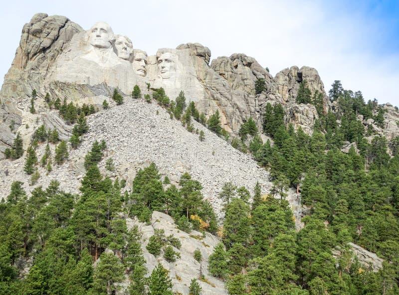 Zet het Nationale Monument van Rushmore, Zuid-Dakota, Verenigde Staat op stock fotografie
