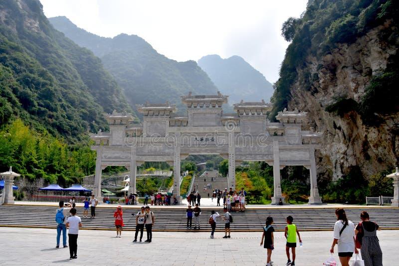 Zet het Nationale Park van Huashan, Shaanxi, China op stock foto