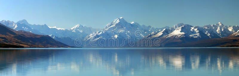 Zet het panorama van Cook, Nieuw Zeeland op stock afbeeldingen