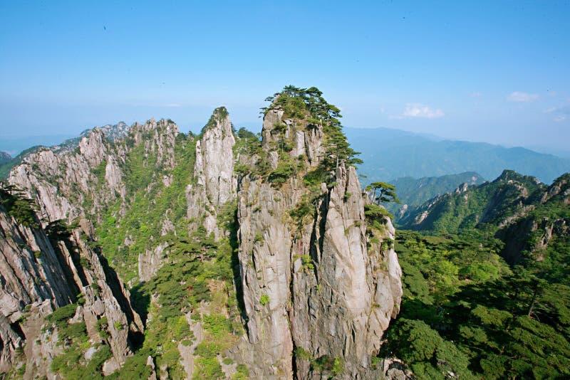 Zet Huangshan op stock fotografie