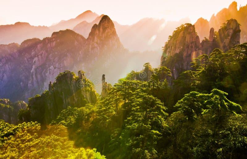 Zet huangshan op royalty-vrije stock afbeeldingen