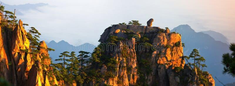 Zet huangshan op royalty-vrije stock foto