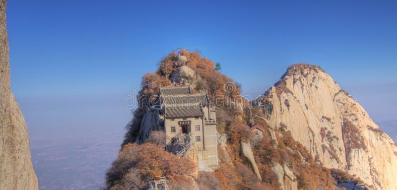 Zet huashan Noord- piekChina Azië op royalty-vrije stock afbeeldingen
