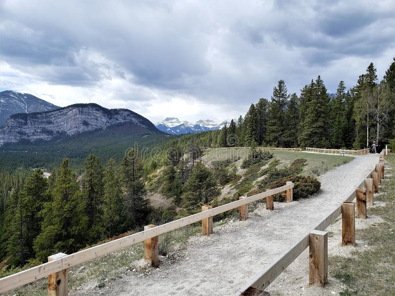 Zet ians in Banff Alberta, e op royalty-vrije stock afbeelding