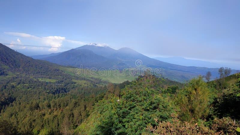 Zet Ijen-Krater, Bondowoso-Gebied, Indonesië op royalty-vrije stock foto's