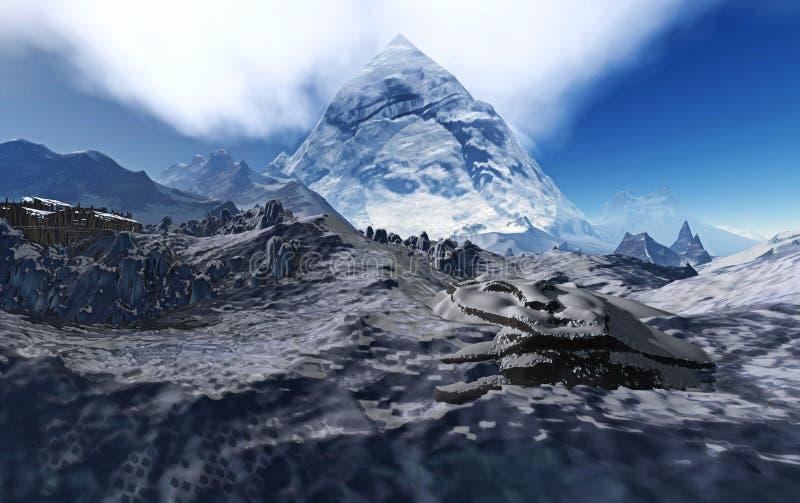 Zet Kailash op royalty-vrije stock afbeeldingen