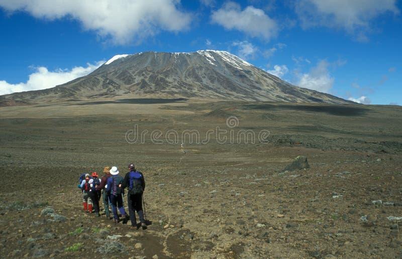 Zet Kilimanjaro op royalty-vrije stock afbeeldingen