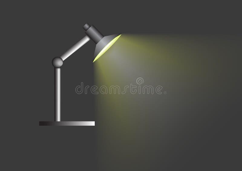 Zet lamp op grijze achtergrond aan stock illustratie