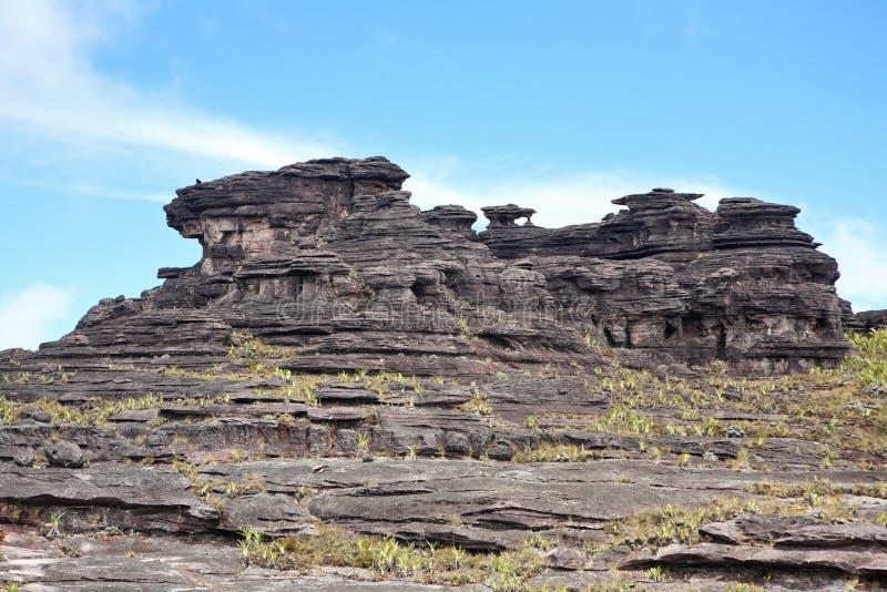 Zet landschap Roraima op stock afbeelding