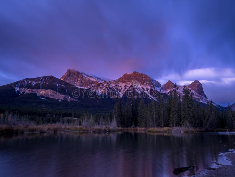Zet Lawrence Grassi, Canmore Alberta op stock afbeelding