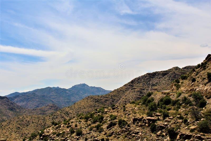 Zet Lemmon, Santa Catalina Mountains, het Nationale Bos van Coronado, Tucson, Arizona, Verenigde Staten op stock afbeeldingen