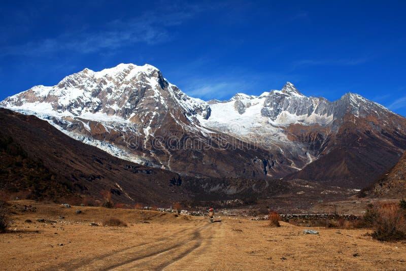 Zet Manaslu, Nepal op stock fotografie