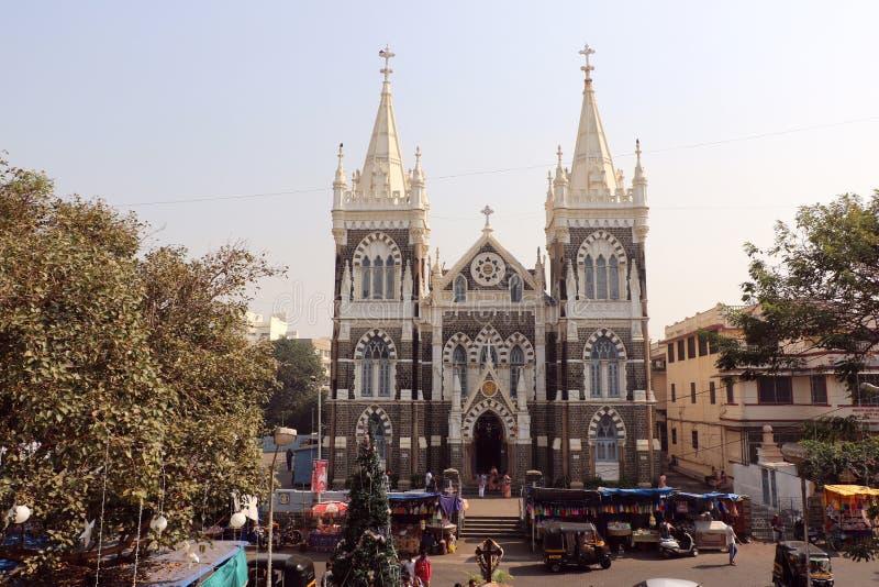 Zet Mary Church, Mumbai op stock foto's