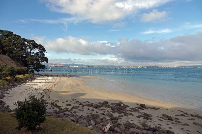 Zet Maunganui in Tauranga, Nieuw Zeeland op stock foto's