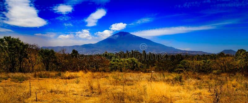 Zet Meru in Tanzania op royalty-vrije stock fotografie