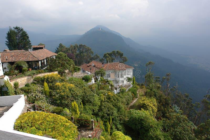 Zet Monserrate in Bogotá, Colombia op royalty-vrije stock afbeelding