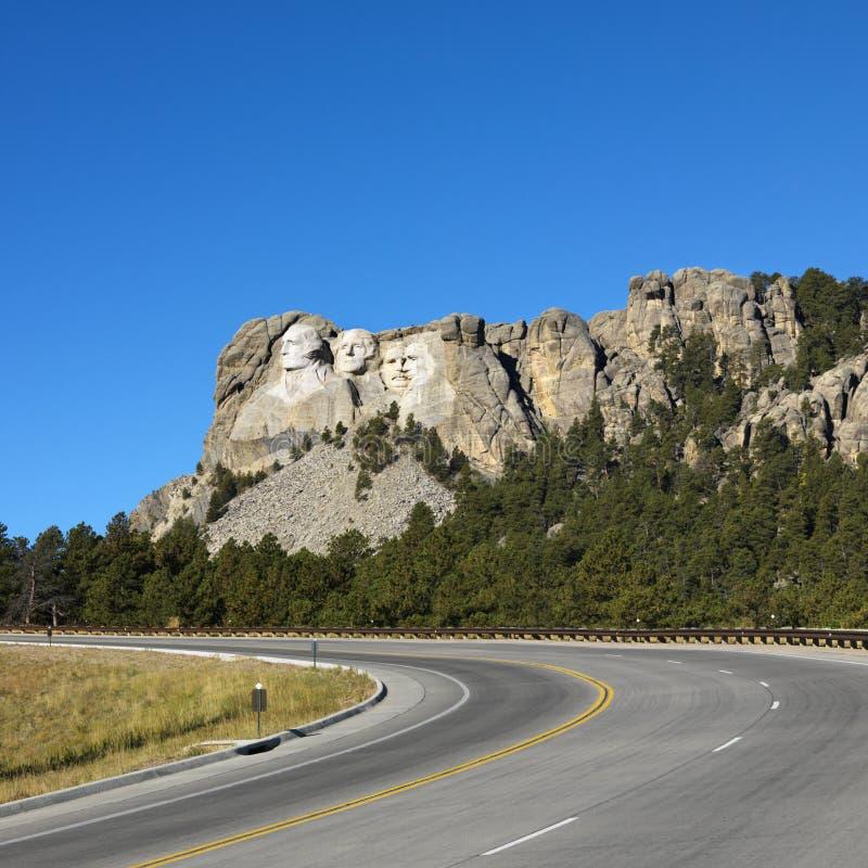 Zet Nationaal Gedenkteken Rushmore op. stock fotografie