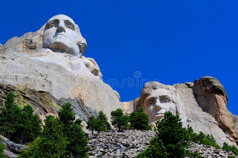 Zet Nationale Herdenkingsrushmore de Bodemmening op van Rushmore stock fotografie