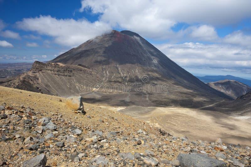 Zet Ngauruhoe op van Rode Krater wordt gezien die stock fotografie