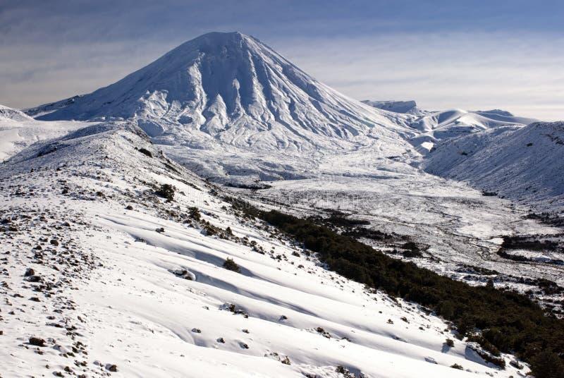 Zet Ngauruhoe, Tongariro Nationaal Park, Nieuw Zeeland op royalty-vrije stock afbeelding