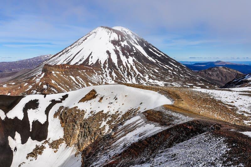 Zet Noodlot in het Nationale Park van Tongariro op, Nieuw Zeeland stock afbeeldingen