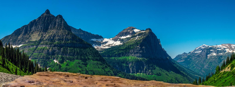 Zet Oberlin, Kanonberg, en Clements Mountain, BNP op stock foto's