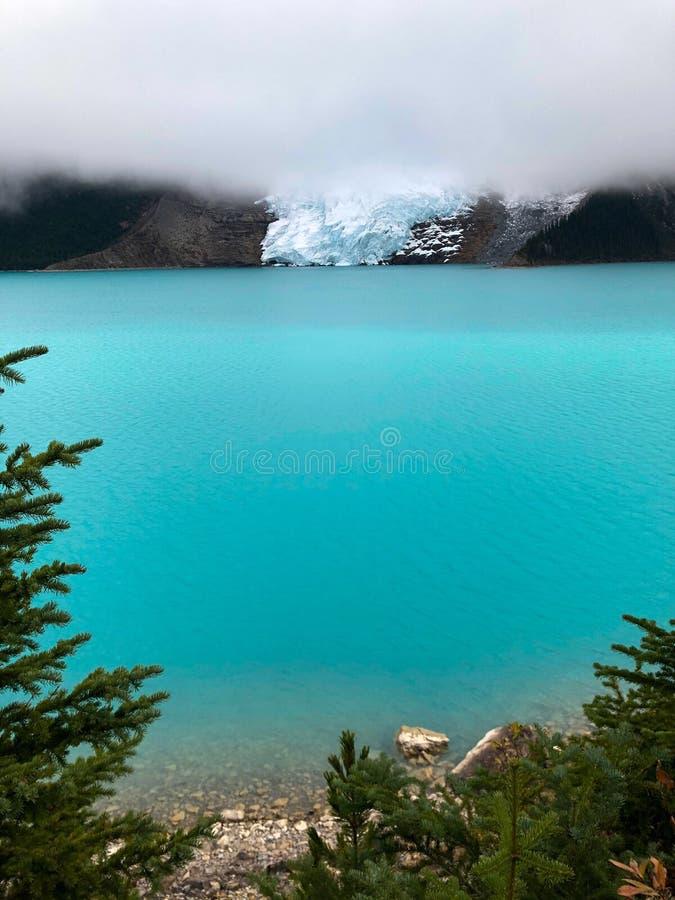 Zet Robson-gletsjer op royalty-vrije stock foto