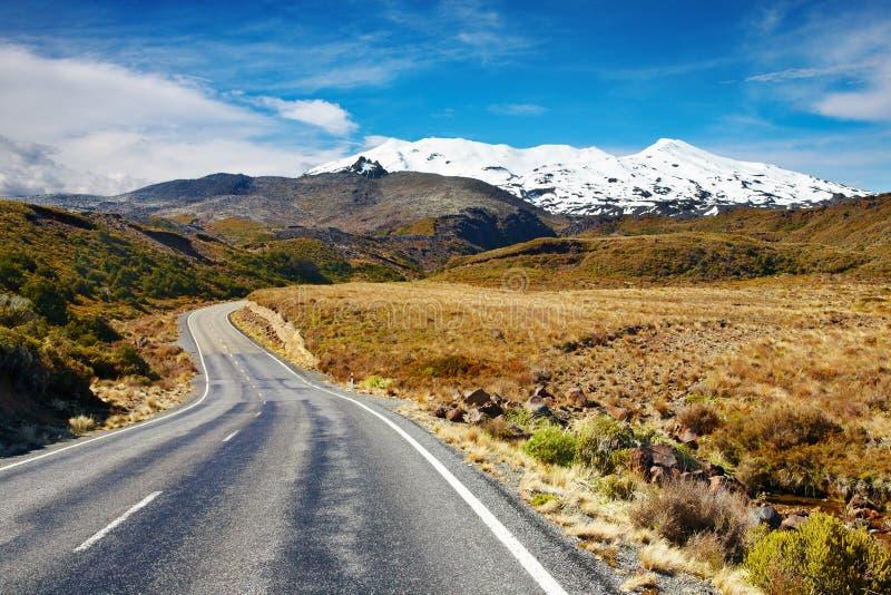Zet Ruapehu, Nieuw Zeeland op stock foto
