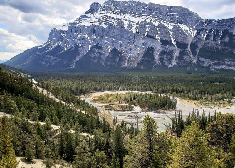 Zet Rundle Banff Albertas op stock afbeeldingen